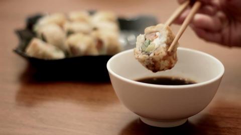 delicious sushi Footage