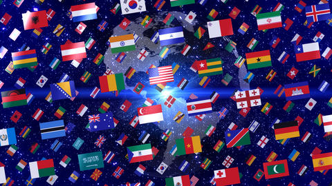 World Flags W Rbe Stock Video Footage