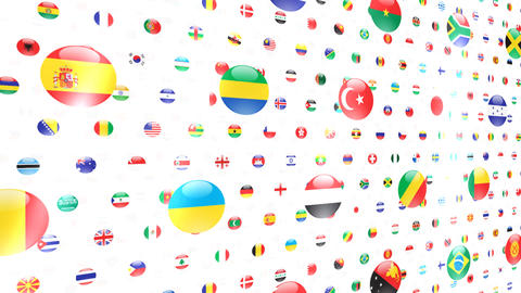 World Flags W Ncw Stock Video Footage