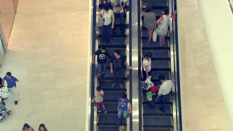 Escalator In A Public Place stock footage