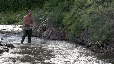 Summer Fishing for Trout Footage