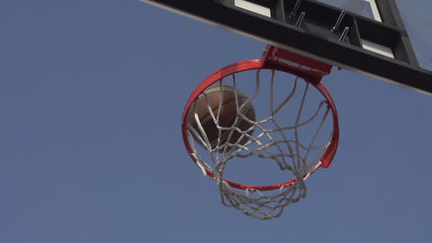 Successful Throw Basketball stock footage
