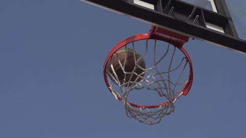 Successful Throw Basketball Footage