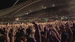 Huge Crowd People Music Concert Cheering stock footage