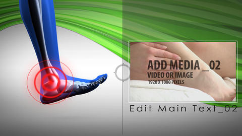 Pain zone: Anklefoot - AE Version 4 After Effects Template