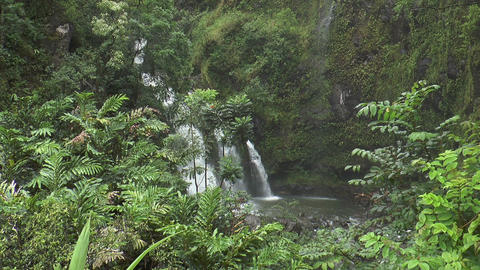 Upper Waikani Falls, Maui Hawaii stock footage