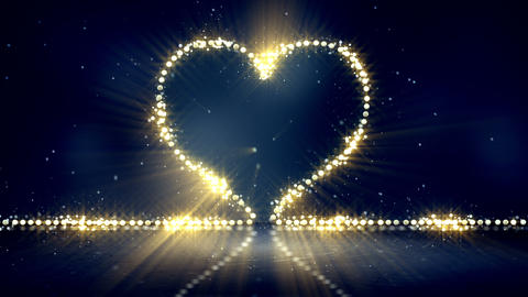 heart shape christmas lights loop background Animation
