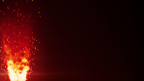 blazing fire flame and sparks loopable background Animation