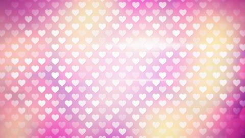 polka dot hearts loopable background Animation