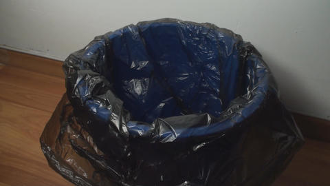 Plastic Bottle Thrown In A Trash Bin, Indoor, Eco, Footage