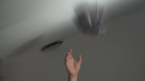 Piece Of Paper Thrown In A Trash Bin, Indoor, Eco, stock footage