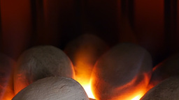 Closeup Of Flames From Gas Fire stock footage