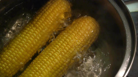 Boiled corn Footage