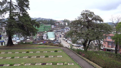 View Of Kohima Town From World War Symmetry, Nagal stock footage