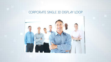 Corporate Single 3D Display - After Effects Template After Effects Template