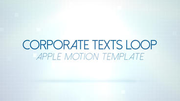 Corporate Texts Loop - Apple Motion and Final Cut Pro X Template Plantilla de Apple Motion