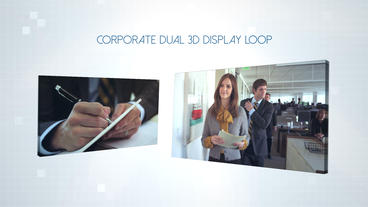 Corporate Dual 3D Display - Apple Motion Template