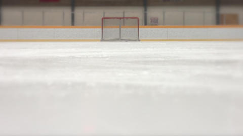 Ice Skating Stop, Hockey stock footage