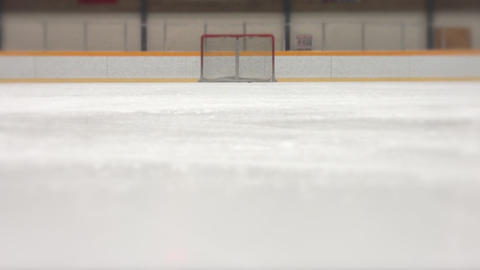 Hockey Stop Slow Motion stock footage