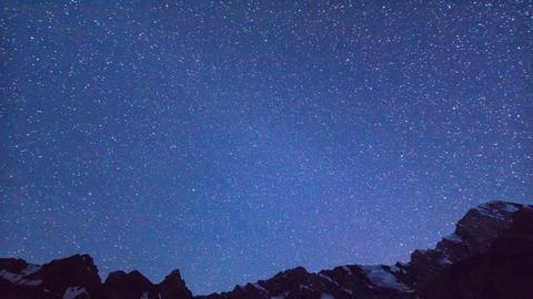 Dawn after the stars. Time Lapse. Pamir, Tajikista Footage
