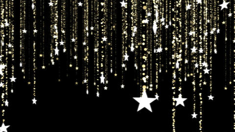 Glitter Stars, Christmas Decoration - Loop stock footage