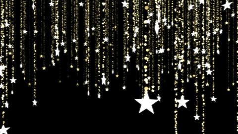 Glitter Stars, Christmas Decoration - Loop Animation