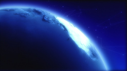 Blue Earth Globe Rotating, Detail Stock Video Footage
