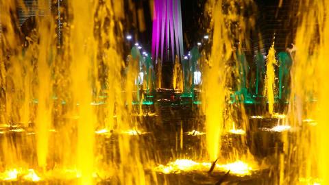 Light colour fountain Footage