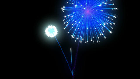 Loopable Fireworks over black. Alpha channel is included Stock Video Footage