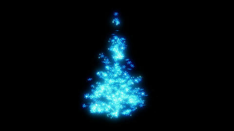 Loopable Rotating blue snowflake sparkles shape of... Stock Video Footage