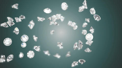 Large diamonds swirl flow with slow motion Animation
