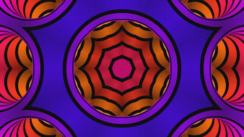 Kaleidoscope rainbow colors Animation