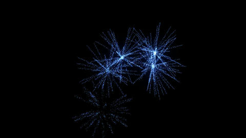 Loopable blue Fireworks with slow motion Animation