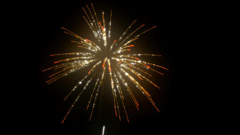 Loopable Fireworks with slow motion Stock Video Footage