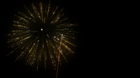 Loopable Fireworks with slow motion Animation