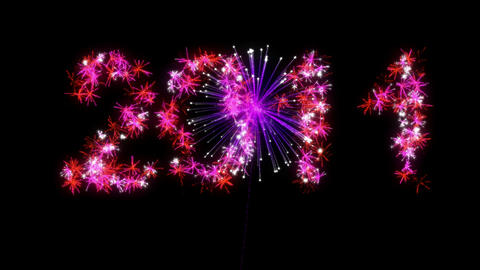Loopable 2011 year Fireworks Animation