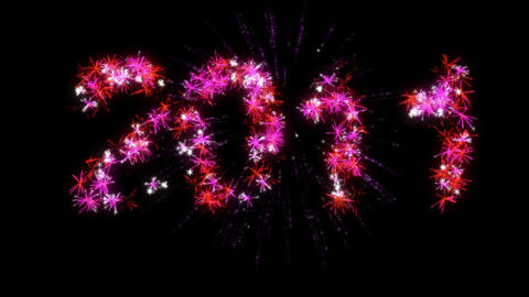 Loopable 2011 year Fireworks Stock Video Footage