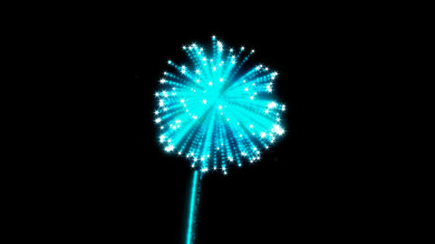Blue rotating Fireworks with slow motion Animation