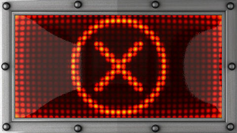 cancel announcement on the LED display Stock Video Footage