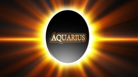 Aquarius Zodiac Sign Loop Stock Video Footage