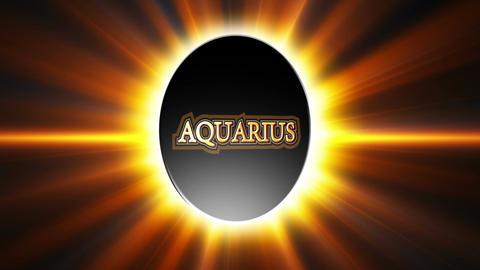 Aquarius Zodiac Sign Loop Stock Video Footage