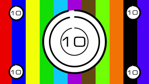 Color Bars CountDown 01 Stock Video Footage