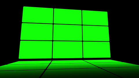 Green Screen Box 09 Stock Video Footage