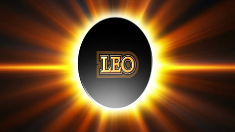 Leo Zodiac Sign Loop Stock Video Footage
