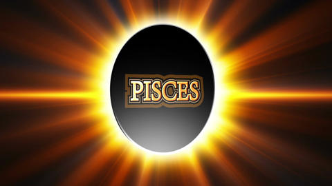 Pisces Zodiac Sign Loop Stock Video Footage