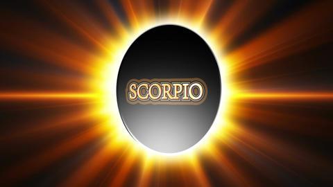 Scorpio Zodiac Sign Loop Stock Video Footage