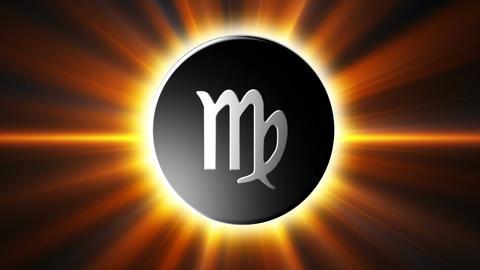 Virgo Zodiac Sign Loop Stock Video Footage