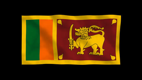 National Flag A65b SRI Sri Lanka Stock Video Footage