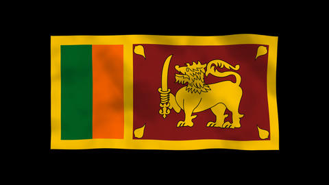 National Flag A65b SRI Sri Lanka Animation