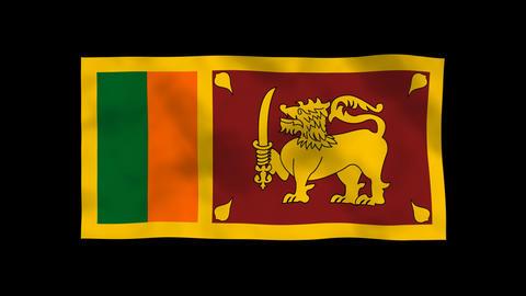 National Flag A65b SRI Sri Lanka Animation